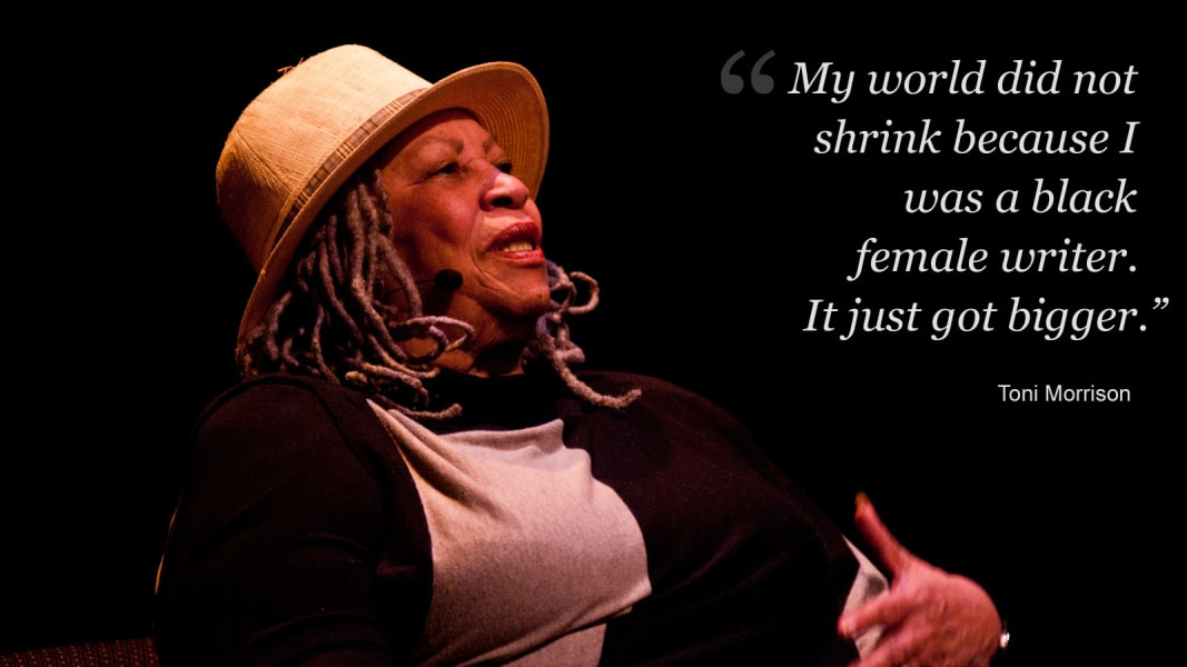 Toni Morrison on being a black writer