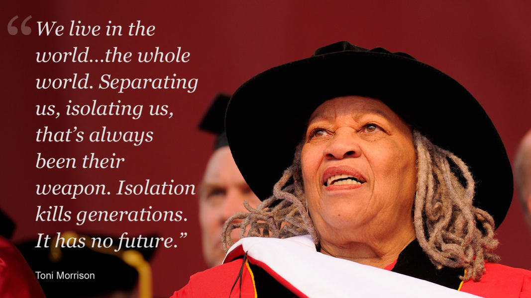 Toni Morrison on isolation