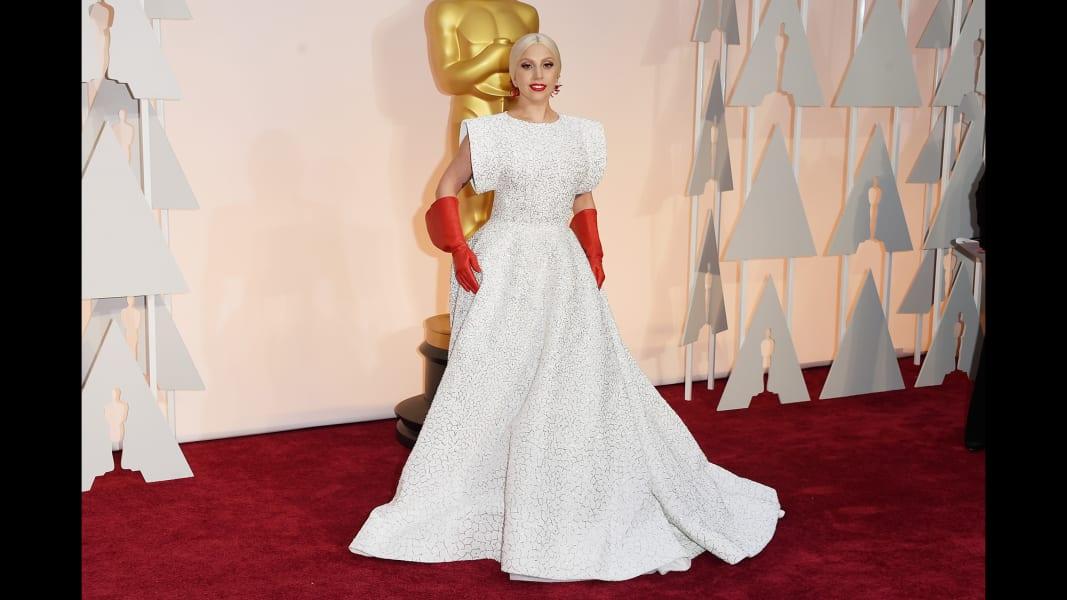 lady gaga oscars dress
