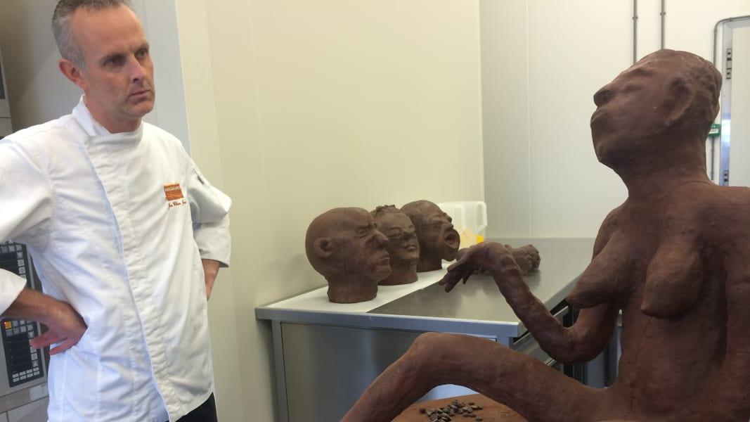 Democratic Republic of Congo Institute of Human Activities chocolate sculpture