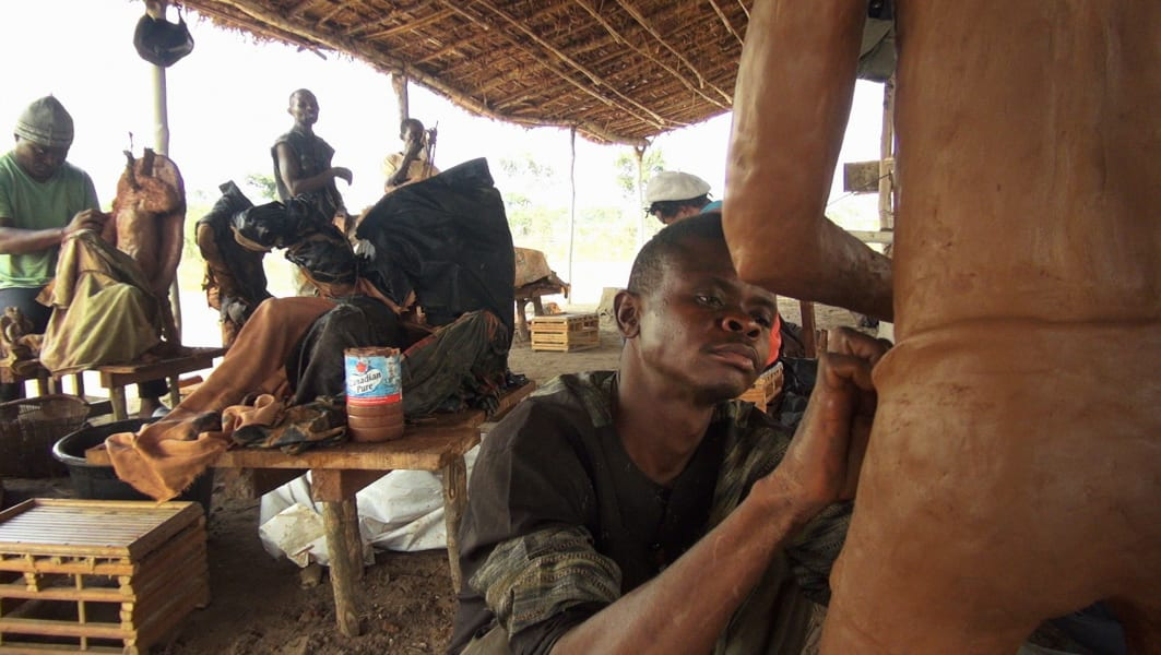 DRC Institute for Human activities plantation worker Emery Muhamba self portrait