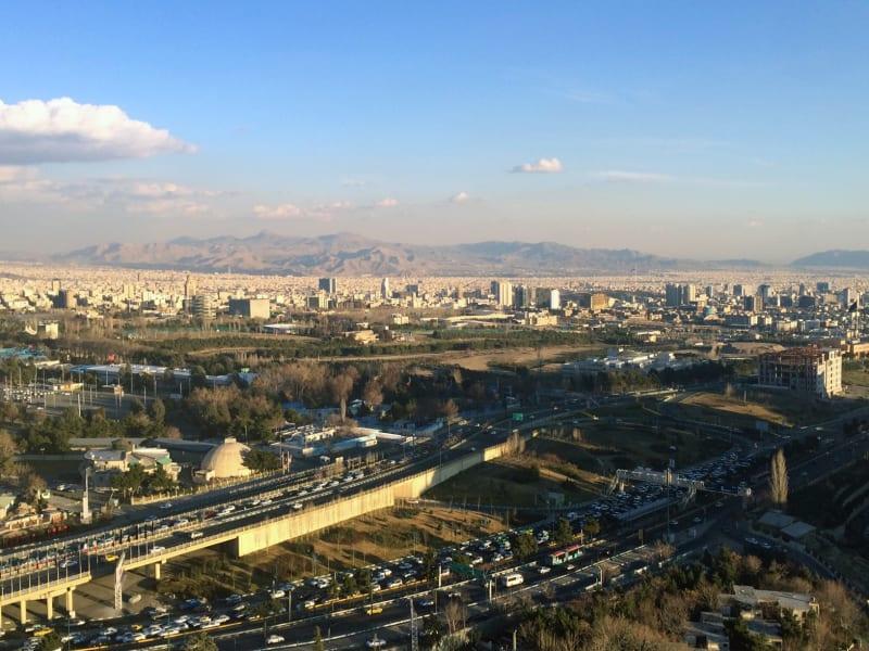 Pleitgen Tehran Skyline