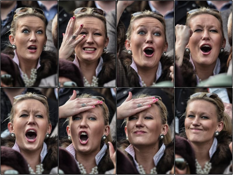 horse racing face woman