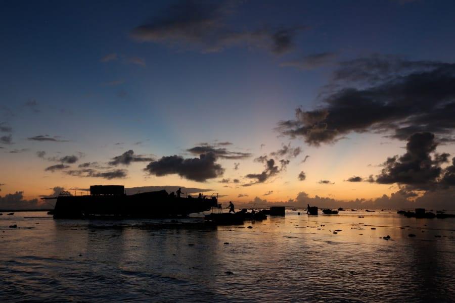 MAURITIUS Sunset Ocean Shane Smart Volvo Ocean Race