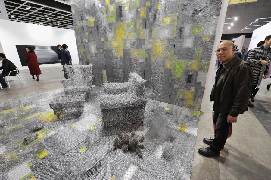 art basel hong kong spikey chair