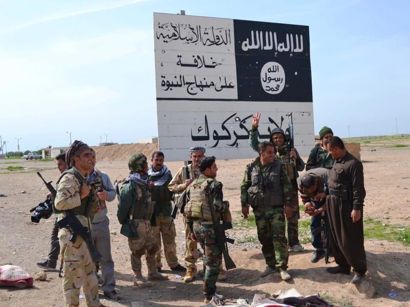 Peshmerga fighters Hawija Kirkuk