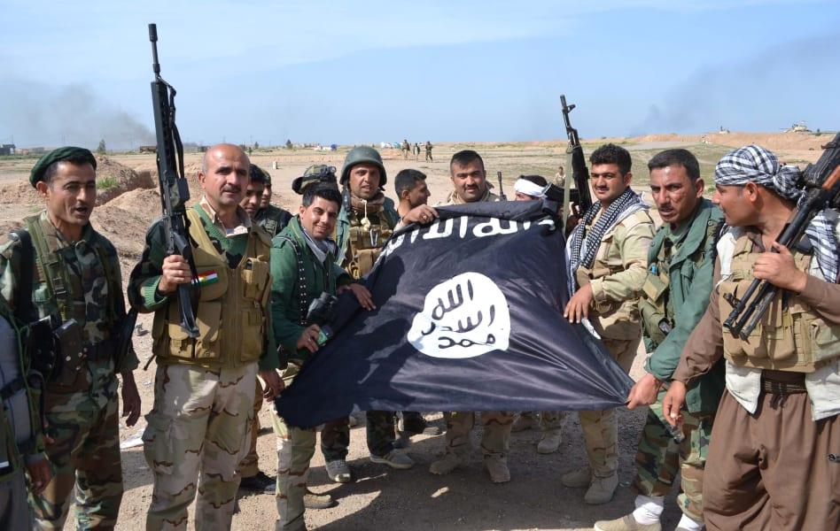 Peshmerga ISIS flag