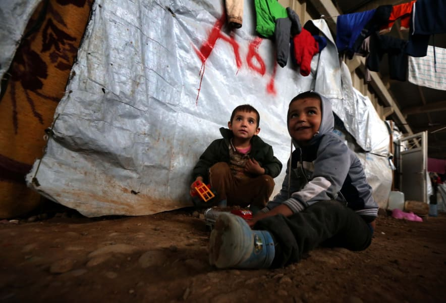 Peshmerga Mosul displaced Iraqi children
