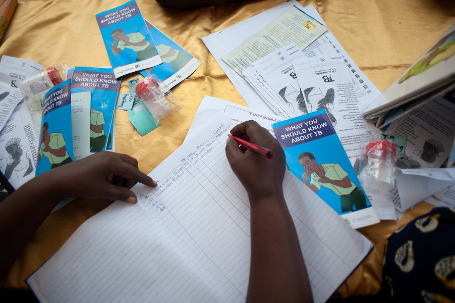TB health camp leaflets uganda