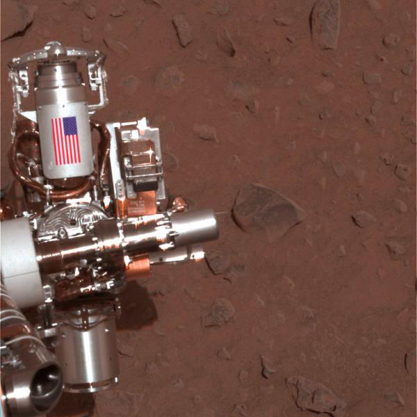 mars spirit opportunity rover american flag