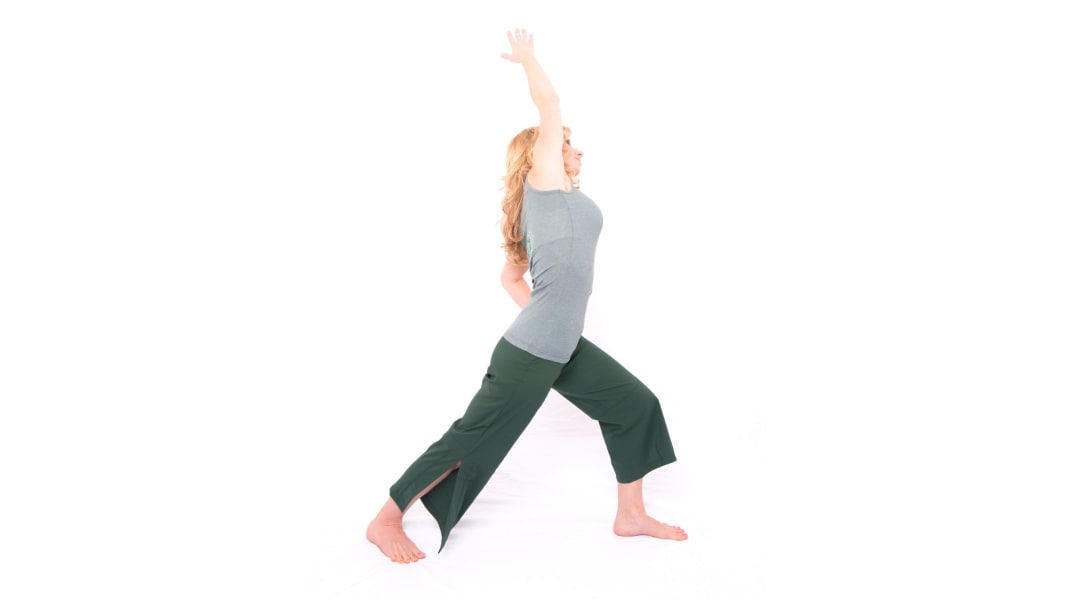 yoga WarriorOneSideBend