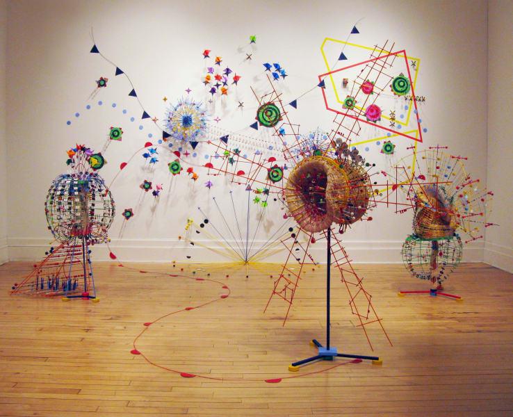 sculpture Nathalie Miebach room
