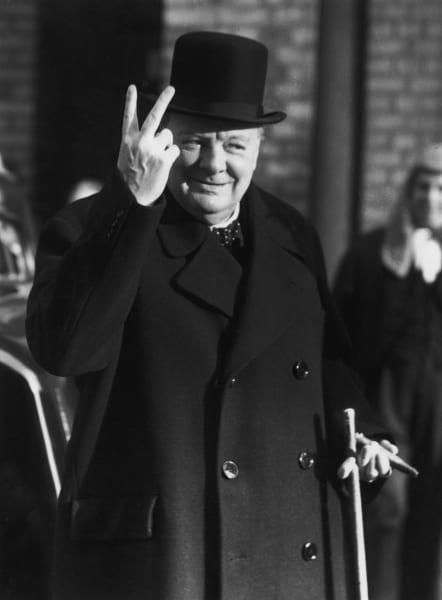 Churchill naps
