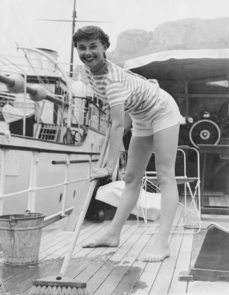 nautical fashion audrey hepburn