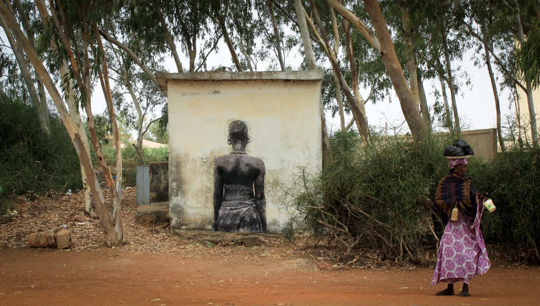 YZ Yseult Senegal street art project Amazone