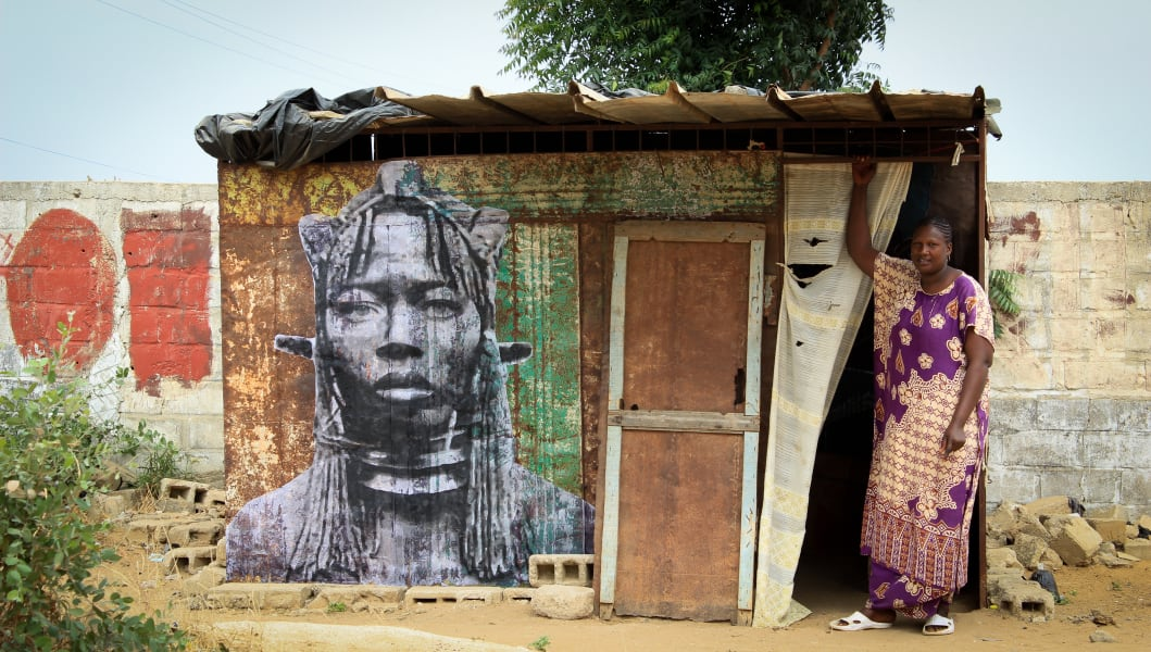 YZ Yseult Senegal Project Amazone street art
