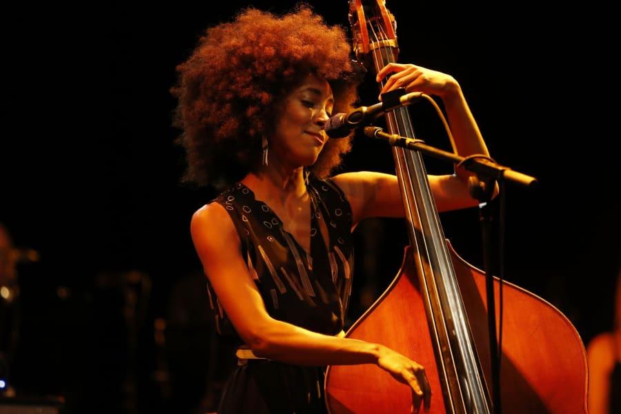 Esperanza Spalding at the Nice Jazz Festival