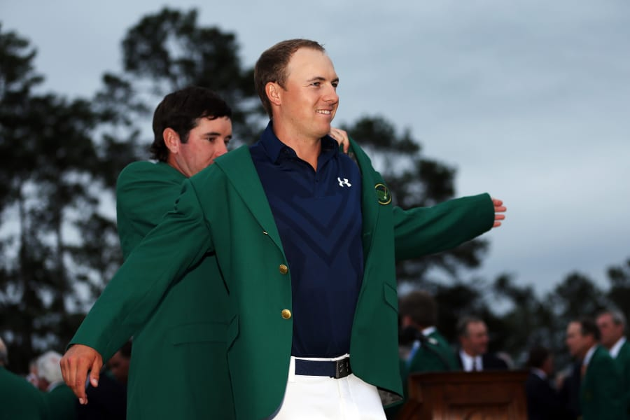 masters jordan spieth green jacket