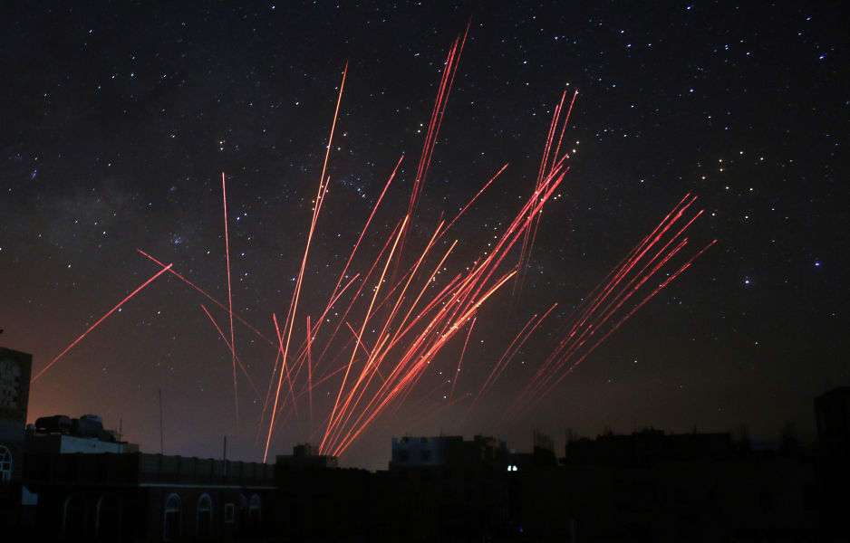 yemen anti-aircraft fire