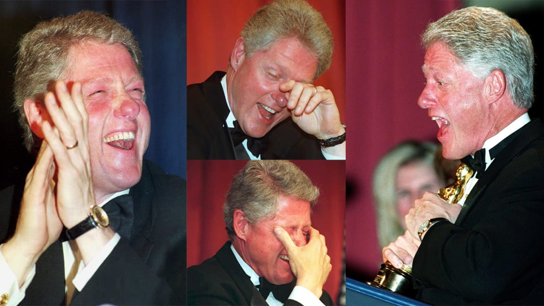 WHCD Bill Clinton laughs