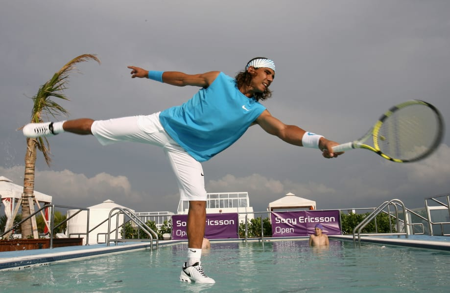 rafael nadal water tennis