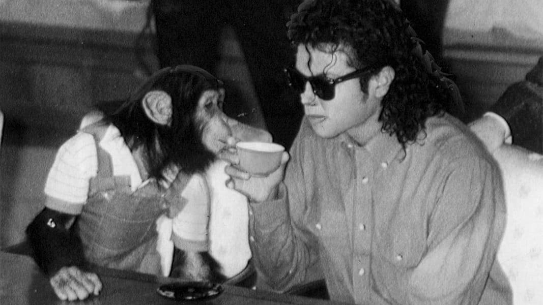 michael jackson chimpanzee bubbles RESTRICTED