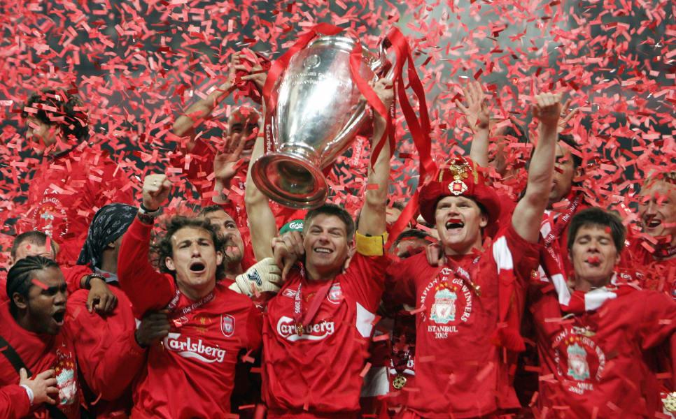 Liverpool Champions League trophy