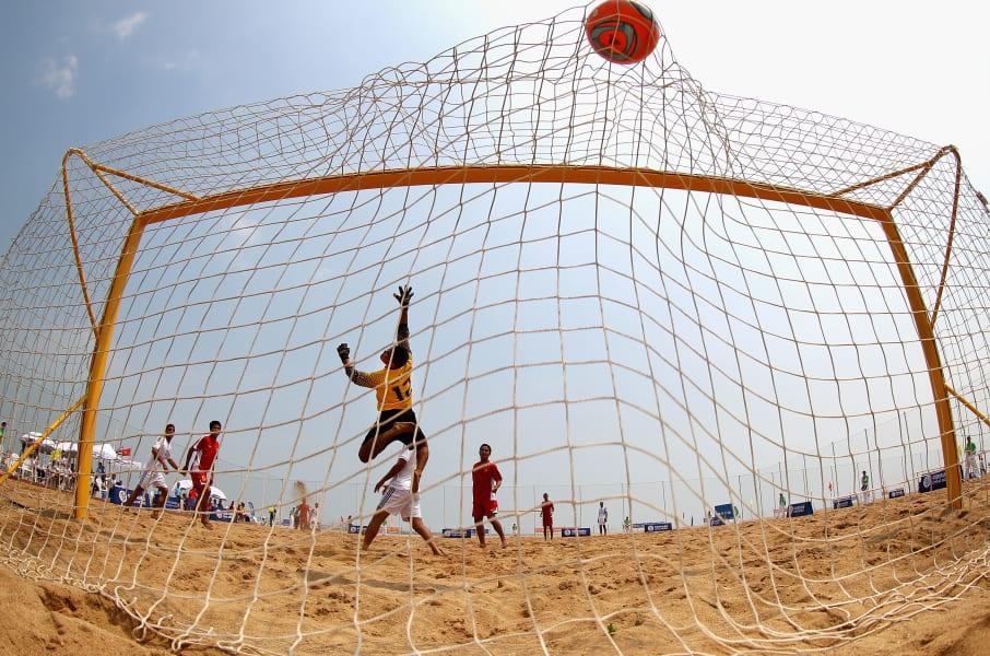 Beach football -- goal