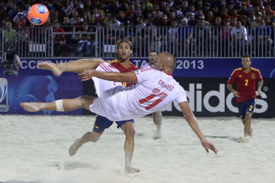 beach football -- russian striker