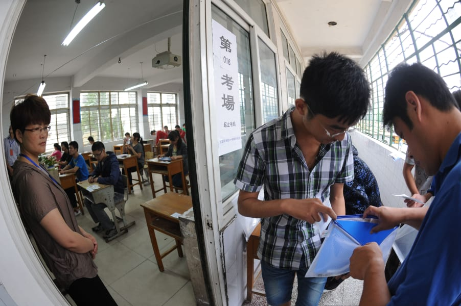 RESTRICTED China Gaokao test cheat
