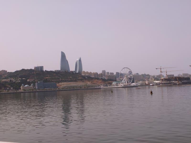 Baku Azerbaijan skyline