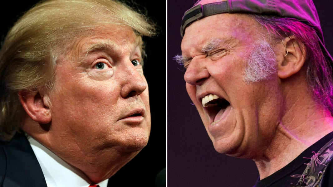 Donald Trump Neil Young split