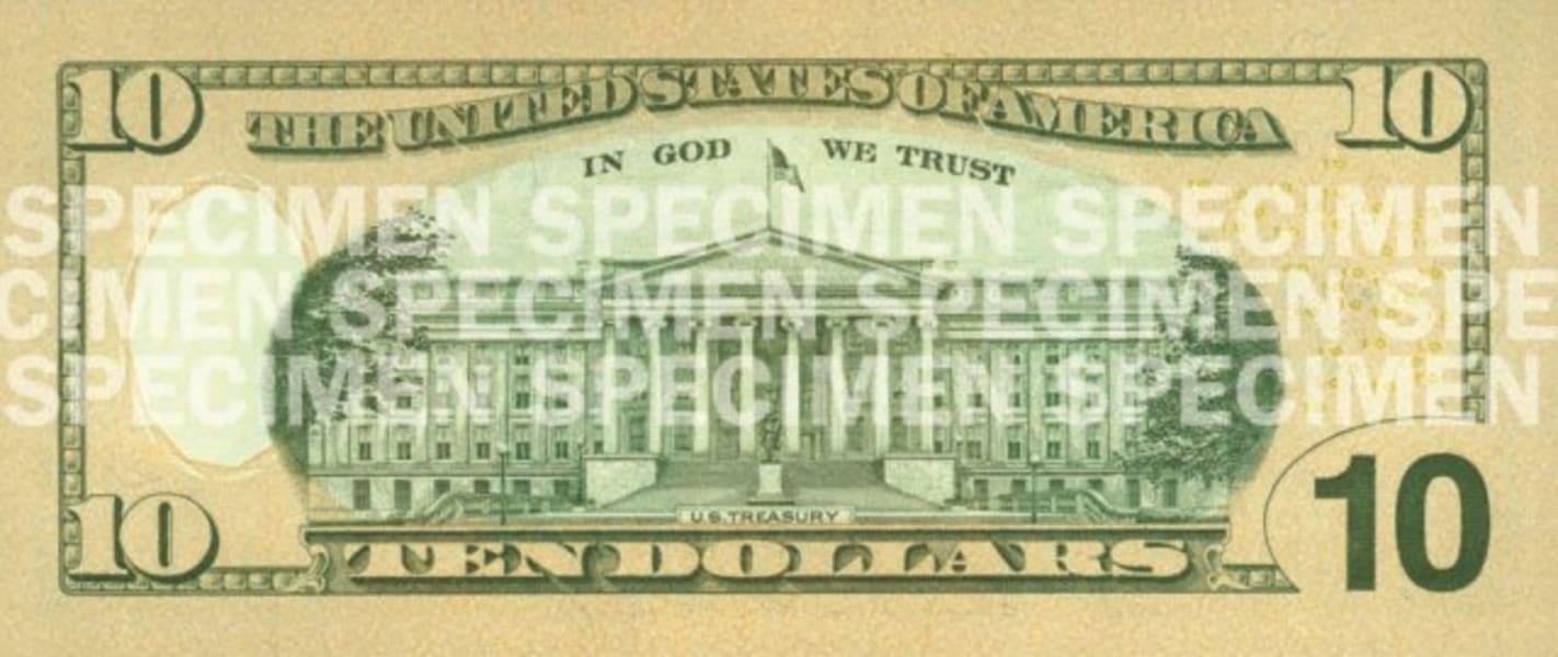 current 10 dollar back