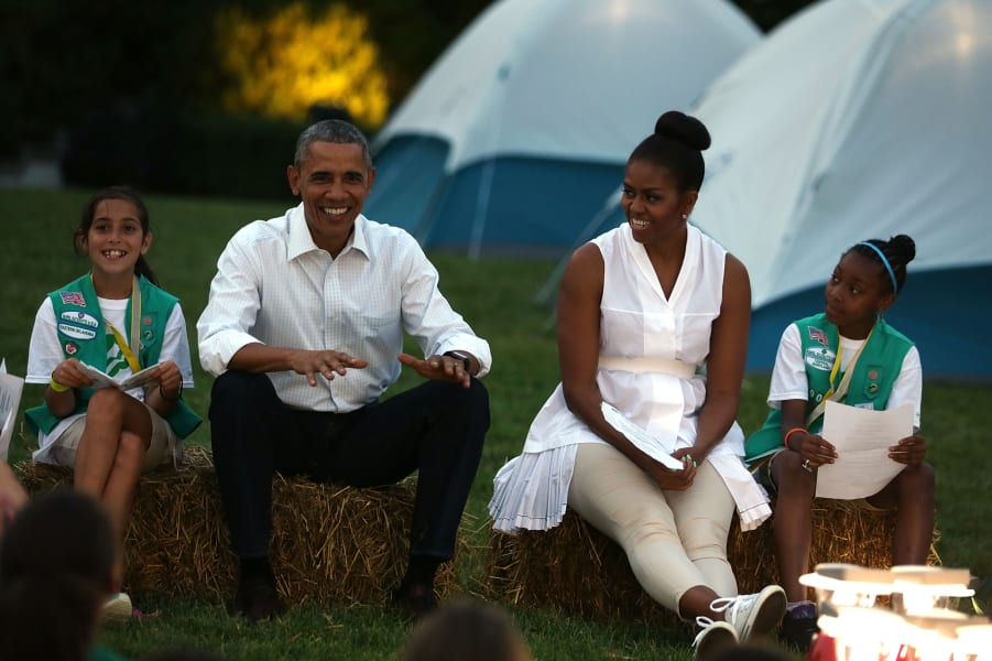 Girl Scouts camp out at White House 2