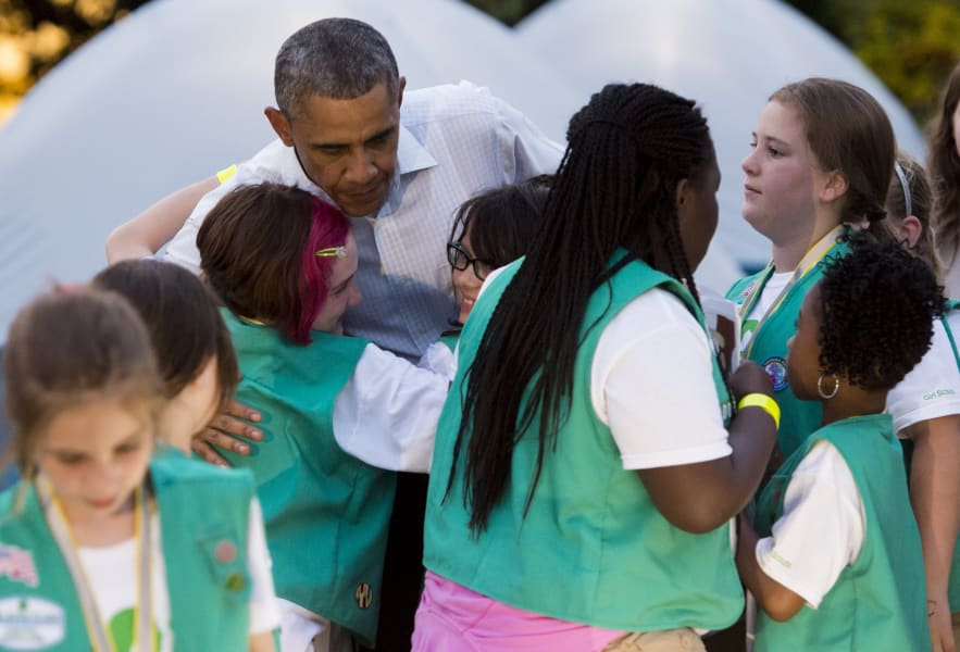 Girl Scouts camp out at White House 3