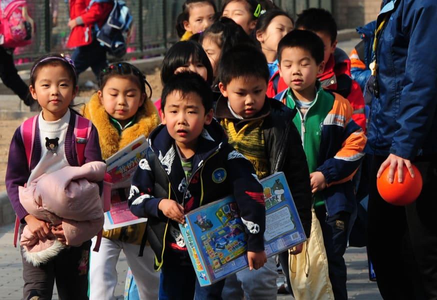 china elementary school  students