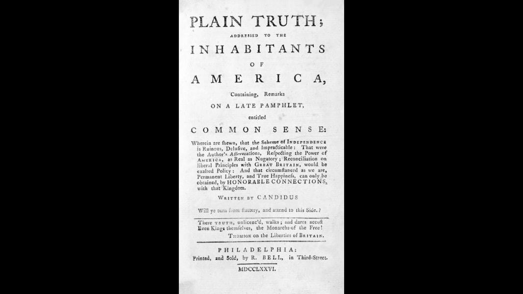 06 early u.s. history Thomas Paine's Common Sense