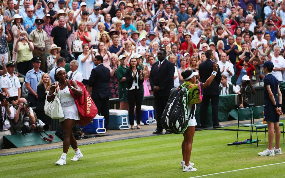 Serena walk off