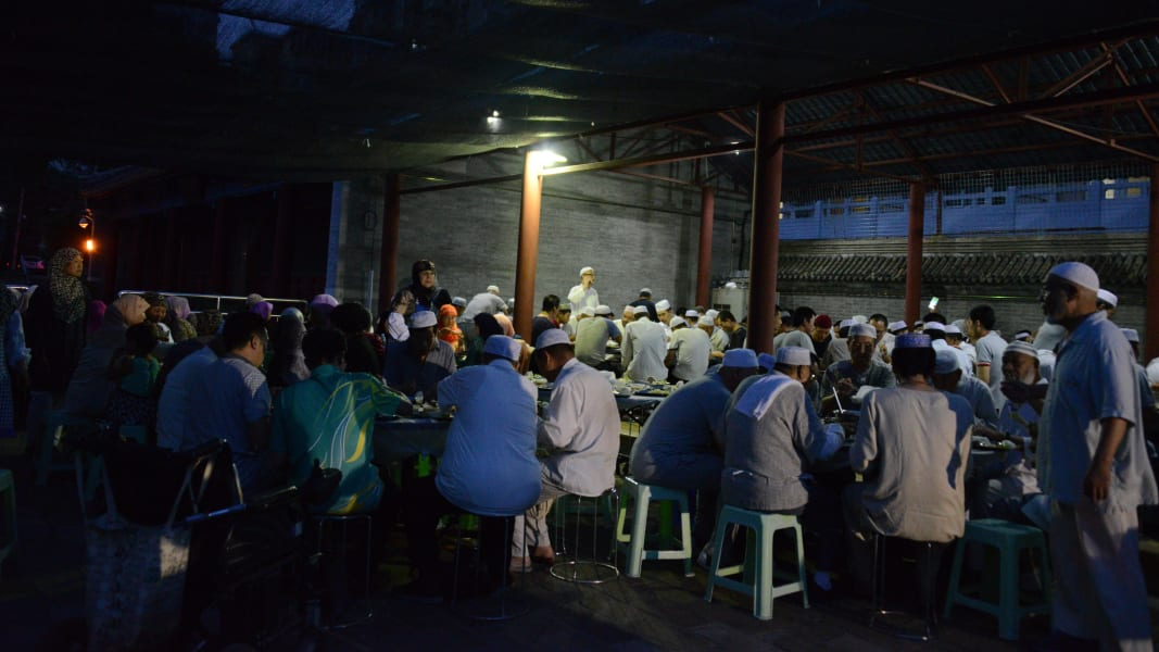 China ramadan beijing mosque iftar