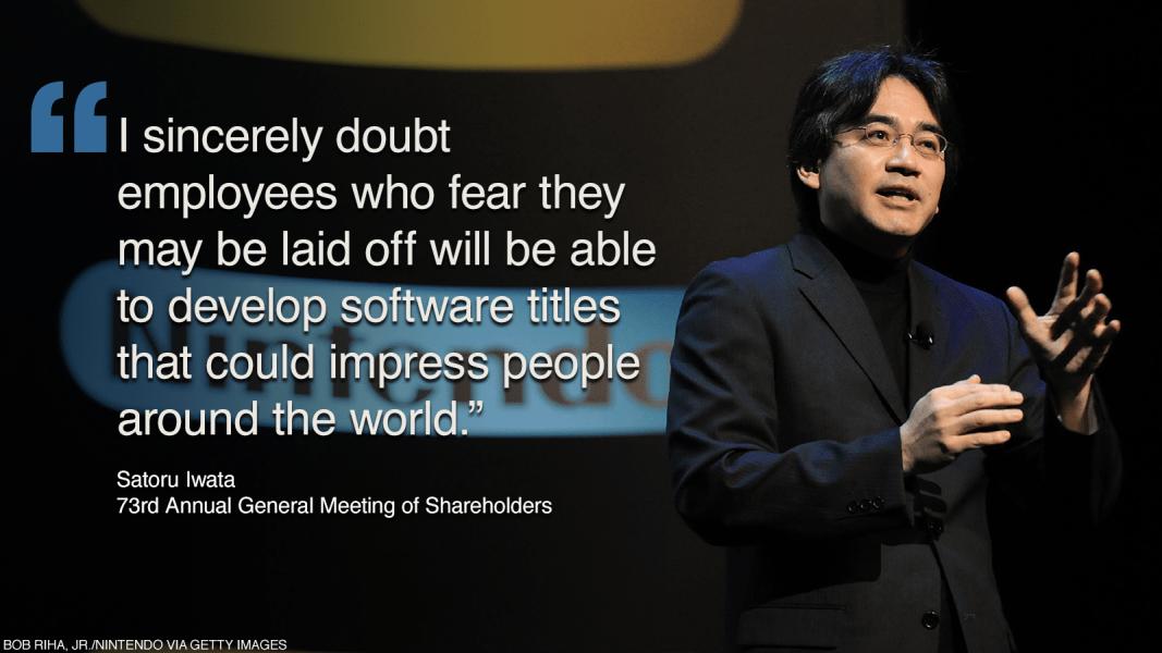 japan satoru iwata quote 7