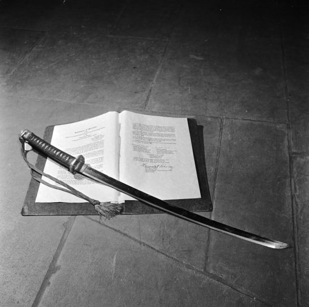 samurai sword surrender