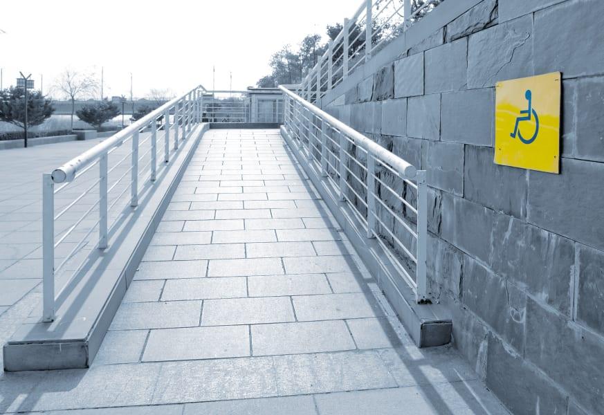 05 ada wheel chair entrance ramp