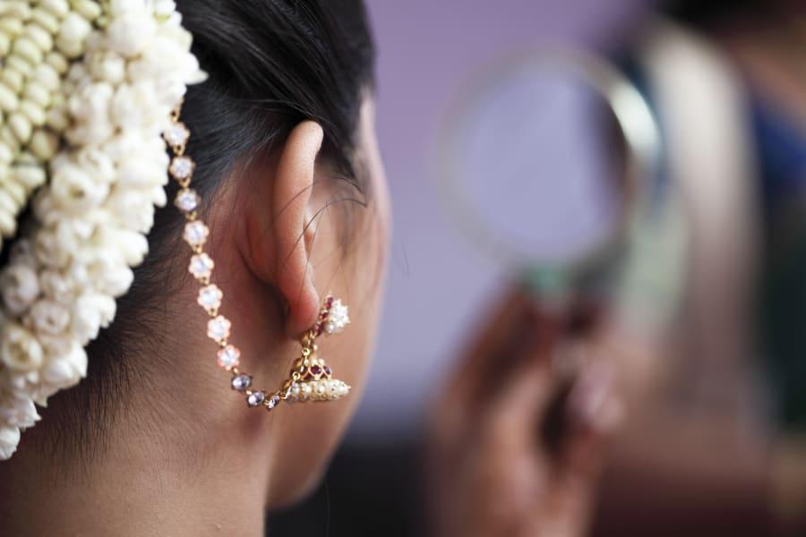 india wedding gold earring
