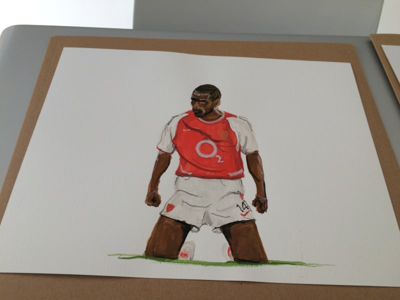 Thierry Henry drawing