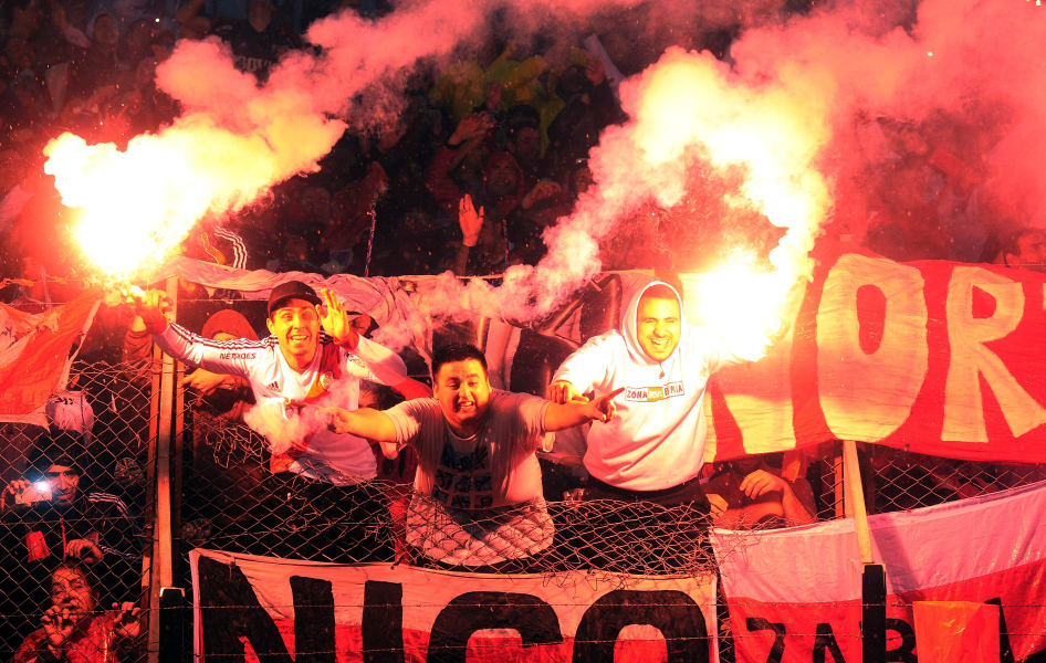 River Plate flares