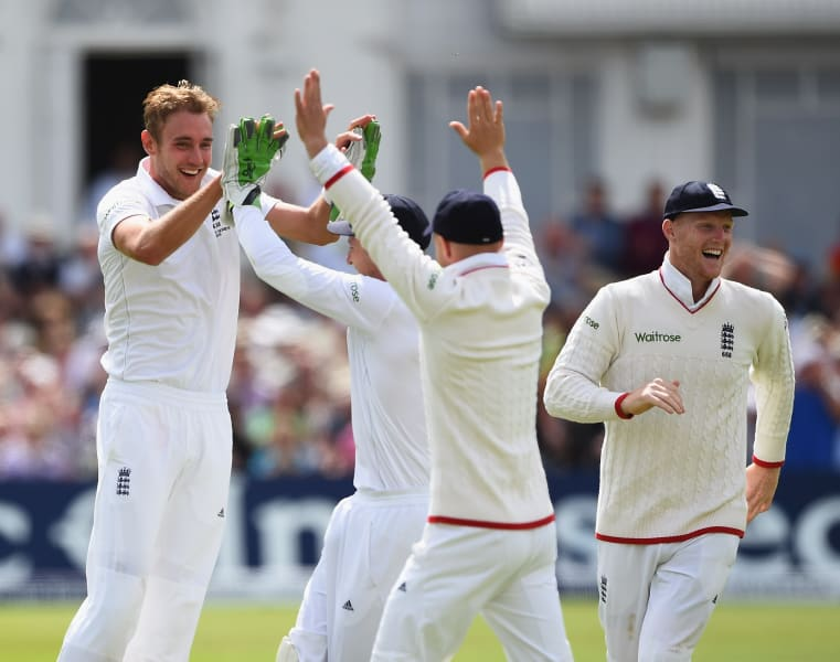 Ashes 2015 Broad, johnson