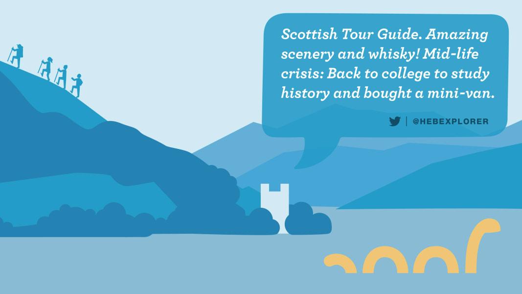 Dream jobs Scottish tour guides