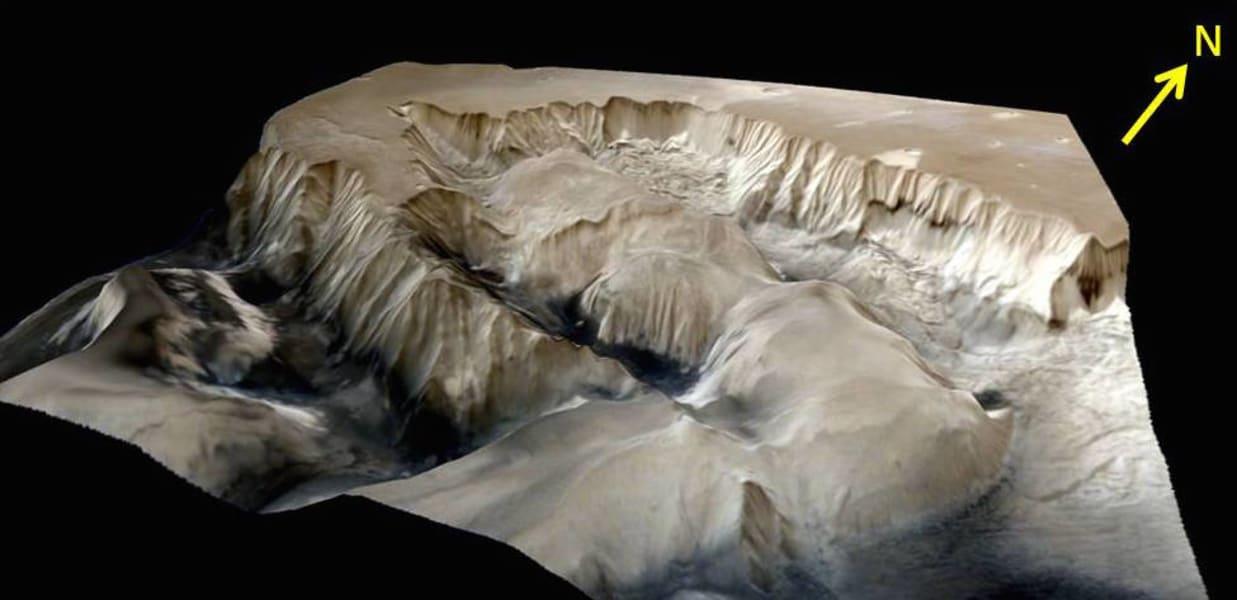 india mars orbiter Ophir Chasma terrain 02