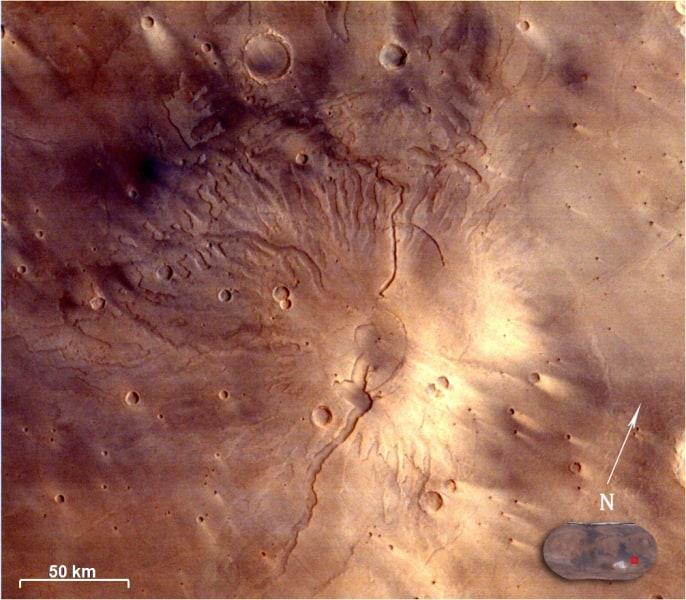 india mars orbiter Tyrrhenus Mons