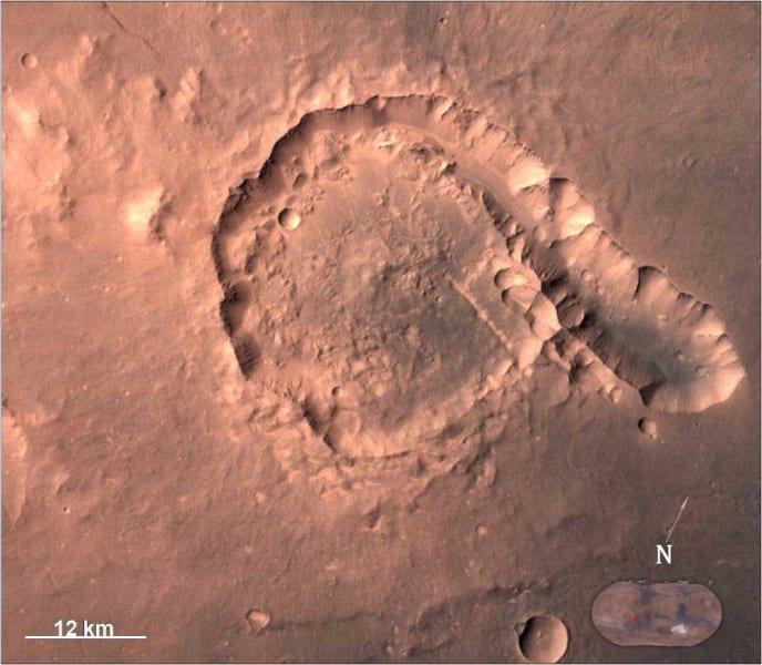 india mars orbiter Pital Crater